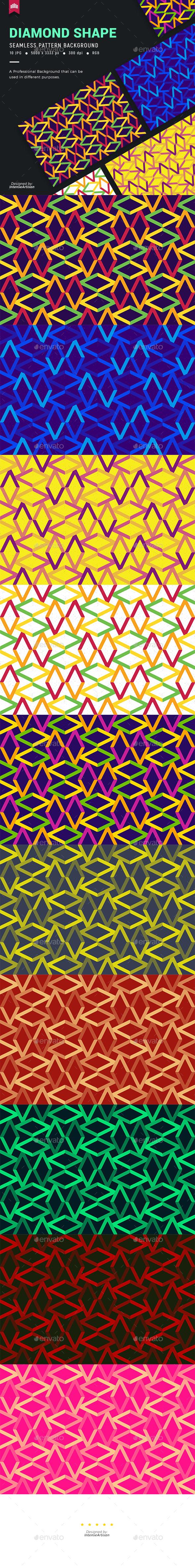 Diamond Shape Seamless Pattern Background - Patterns Backgrounds