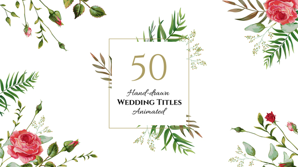 HOT - Floral Wedding Titles 22273137