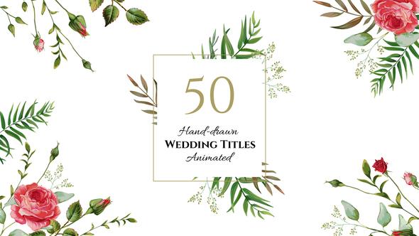 HOT - Floral Wedding Titles 22273137