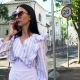 Stylish Brunette in Sunglasses Standing at Urban Street and Talk on Phone - VideoHive Item for Sale