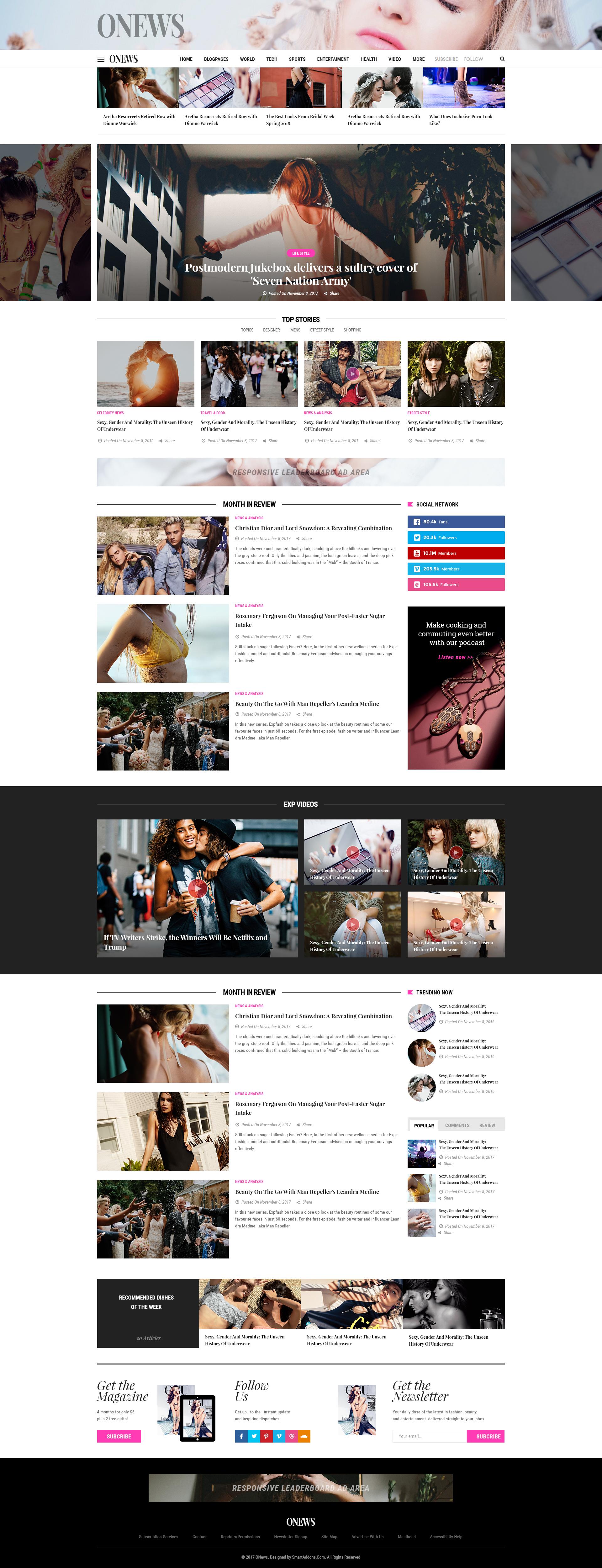ONews - Modern Newspaper & Magazine WordPress Theme (Mobile Layout ...