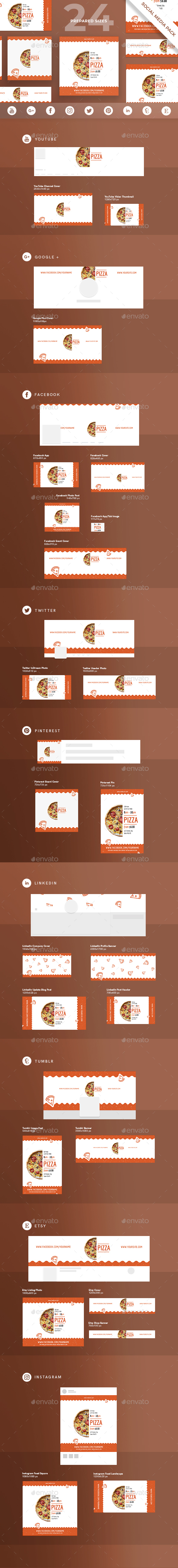Tasty Pizza Social Media Pack - Miscellaneous Social Media