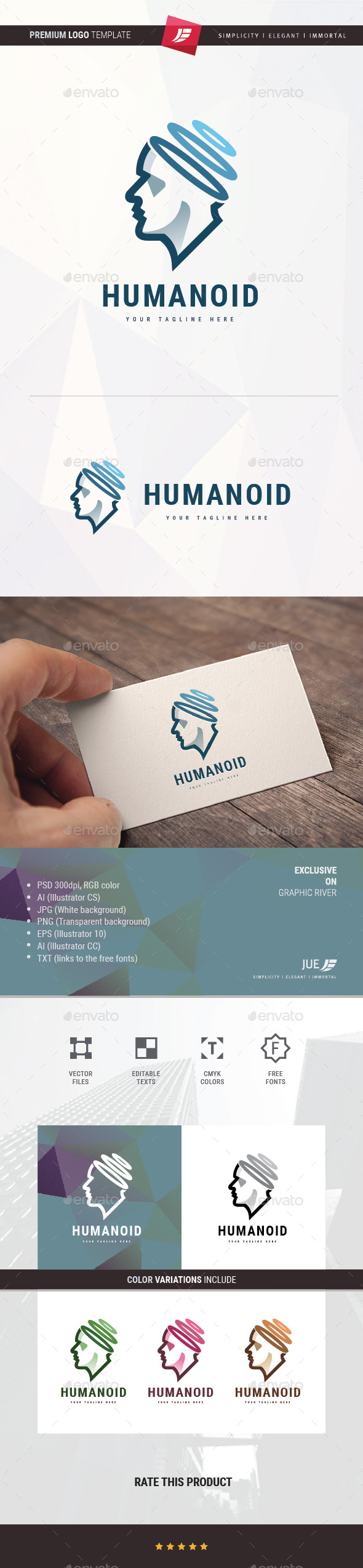 Humanoid Logo - Humans Logo Templates