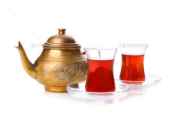Turkish tea - Stock Photo - Images