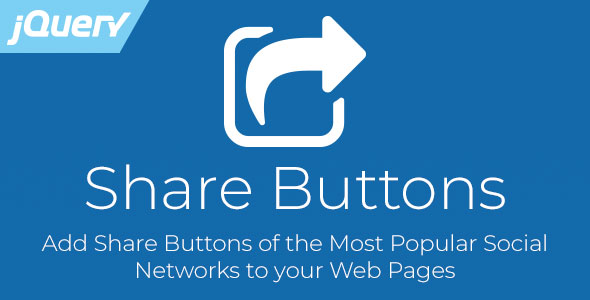 Share Buttons - Social Media jQuery Plugin - CodeCanyon Item for Sale