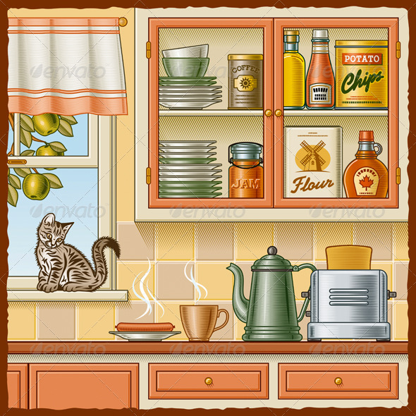 Retro Kitchen - Food Objects