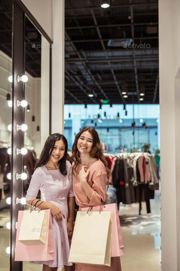 Young women in the store - Stock Photo - Images