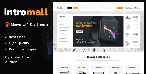 Image of Intromall - Responsive Magento 1 & 2 Theme