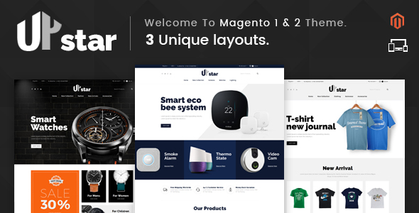 UpStar - Responsive Magento 1 & 2 Theme
