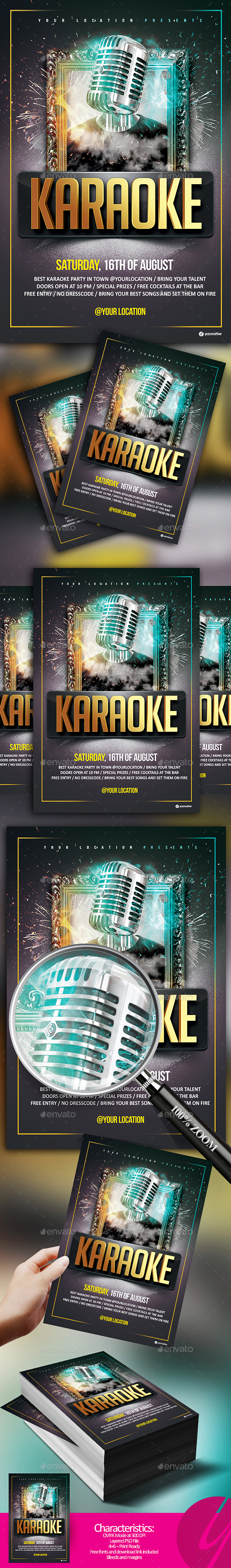 Karaoke Weekend Flyer - Clubs & Parties Events