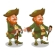Saint Patrick Day Character Leprechaun with Green