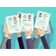 Job Competition Candidates Hold Cv Resume
