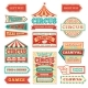 Old Carnival Circus Banners and Carnival Labels - GraphicRiver Item for Sale