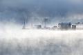 Foggy misty lake landscape in Colorado, USA - PhotoDune Item for Sale