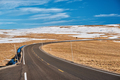 Highway in alpine tundra. Rocky Mountain National Park in Colorado. - PhotoDune Item for Sale