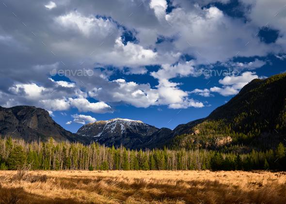 Rocky Mountain National Park landscape - Stock Photo - Images