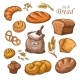Cartoon Bread and Fresh Bakery Product - GraphicRiver Item for Sale