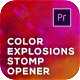 Color Explosions Stomp Opener - VideoHive Item for Sale