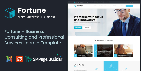 Image of Fortune - Business Consulting and Professional Services Joomla Theme