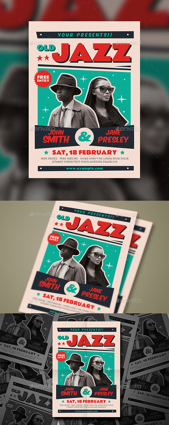 Old Jazz Poster/Flyer - Events Flyers