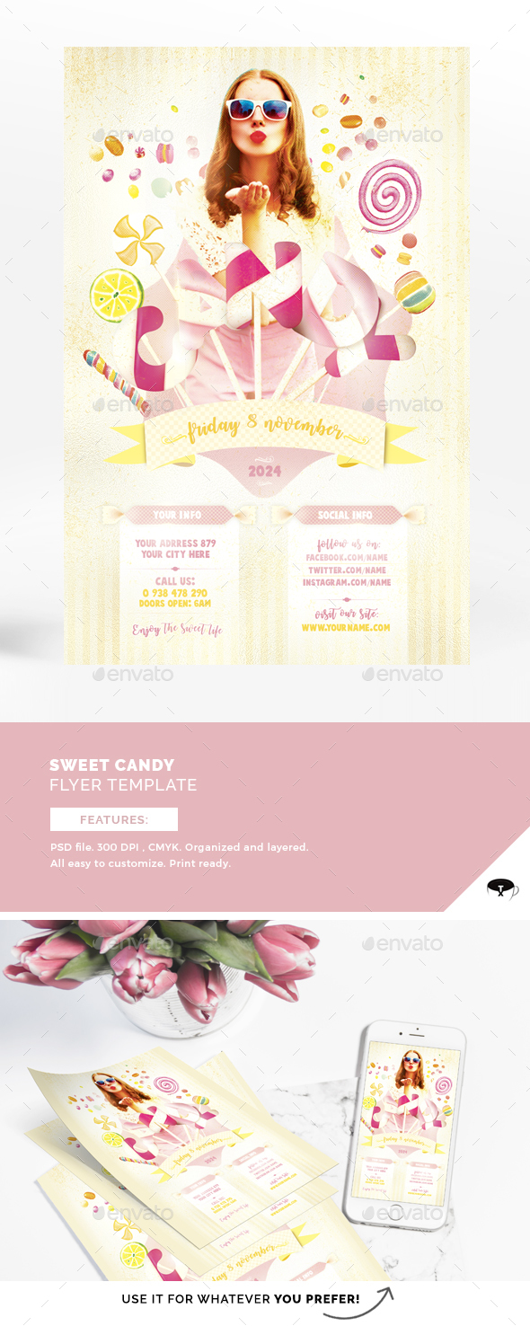 Sweet Candy Flyer Template - Events Flyers