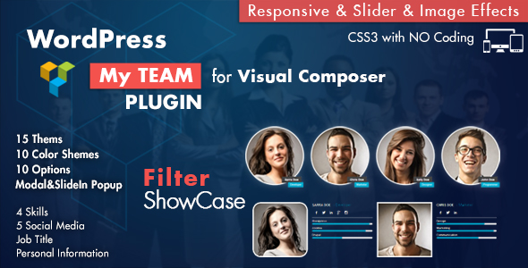 Team Showcase for Visual Composer WordPress Plugin - CodeCanyon Item for Sale