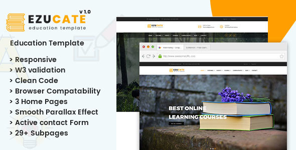 Ezucate – Education HTML5 Responsive Template