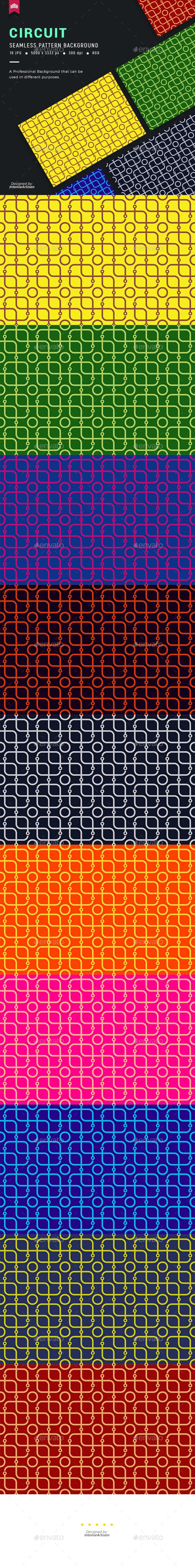 Circuit Seamless Pattern Background - Patterns Backgrounds