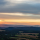 Sunset panorama, inspiring landscape, green forest and mountains - PhotoDune Item for Sale