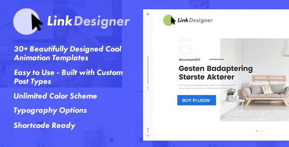 Link Designer - Easy Link Designer Plugin for WordPress (Buttons)
