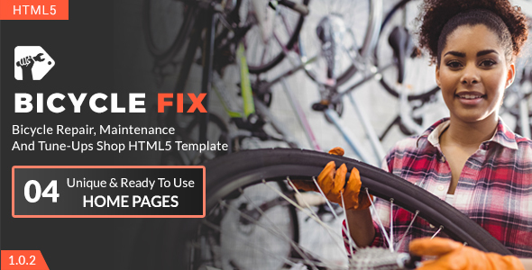 Bicycle Fix - Bicycle Repair, Maintenance and Tune-Ups Shop HTML5 Template - Business Corporate