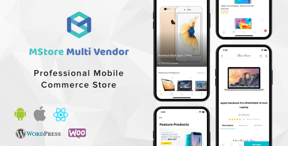 MStore Multi Vendor - Complete React Native template for e-commerce            Nulled