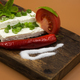 Slices of white cheese with chives - PhotoDune Item for Sale