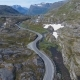 Aerial View of Mountain and Road To Dalsnibba Spring Landscape Norway - VideoHive Item for Sale