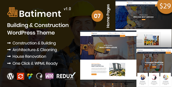 Image of Batiment - Building & Construction WordPress Theme