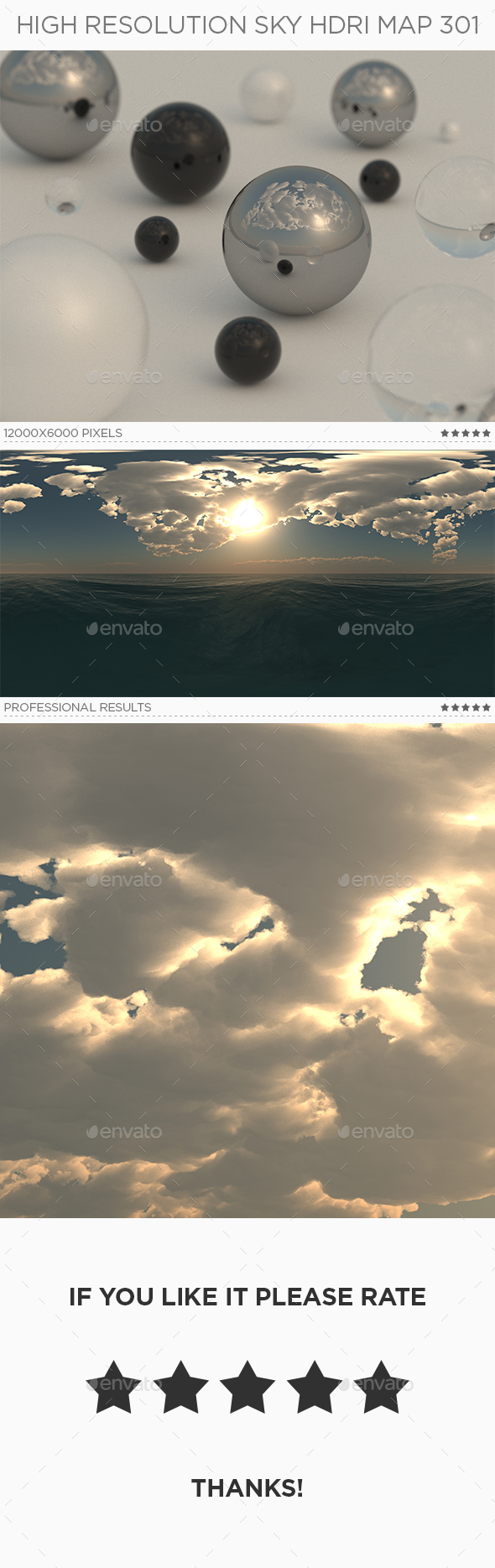 High Resolution Sky HDRi Map 301 - 3DOcean Item for Sale