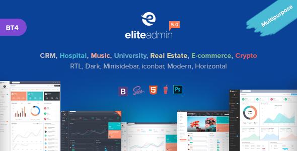 Image of Elite Admin - Multipurpose Bootstrap 4  Admin Template