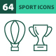 64 Sport Icons - GraphicRiver Item for Sale