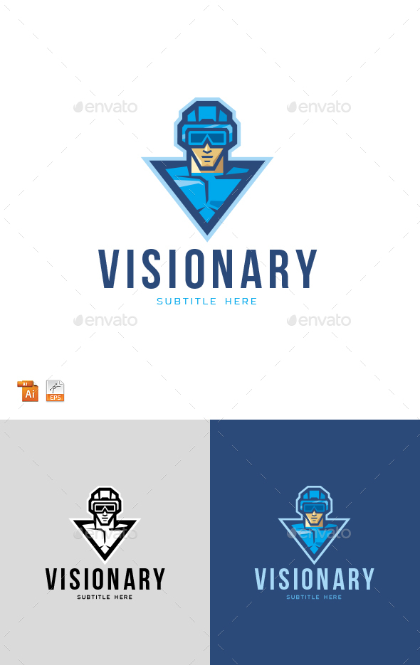 Virtual Vision Reality Logo - Humans Logo Templates