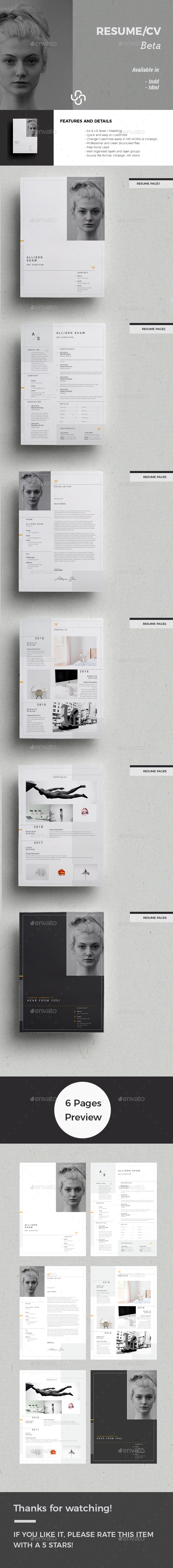 Beta Resume Template - Resumes Stationery