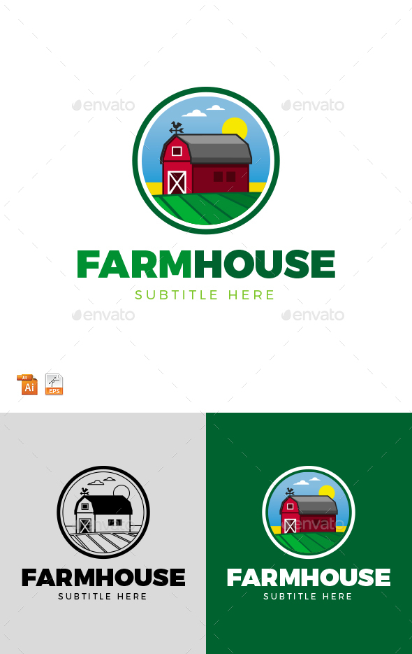 Farmhouse Logo - Nature Logo Templates