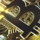 Rotating Golden Bitcoin Coin - VideoHive Item for Sale