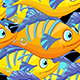 5 Cartoon Fishes Transition - VideoHive Item for Sale