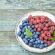 Blueberry and raspberry in plate - PhotoDune Item for Sale