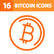 16 Bitcoin Icons - GraphicRiver Item for Sale