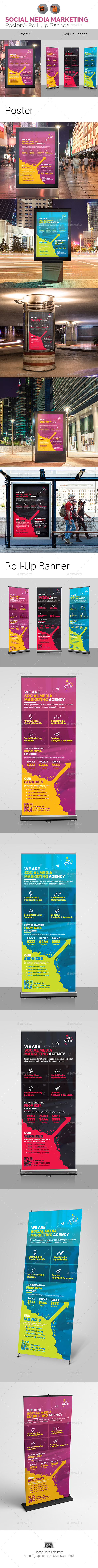 Social Media Marketing Signage Bundle - Signage Print Templates