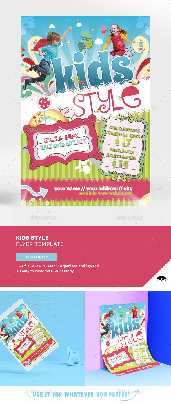Kids style flyer template by touringxx graphicriver kids style flyer template commerce flyers maxwellsz