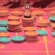 Dealer Working  Placing Bets Collect Chips for Roulette in Casino - VideoHive Item for Sale
