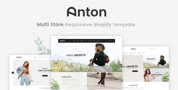 Image of Anton - Multi Store Responsive Shopify Theme