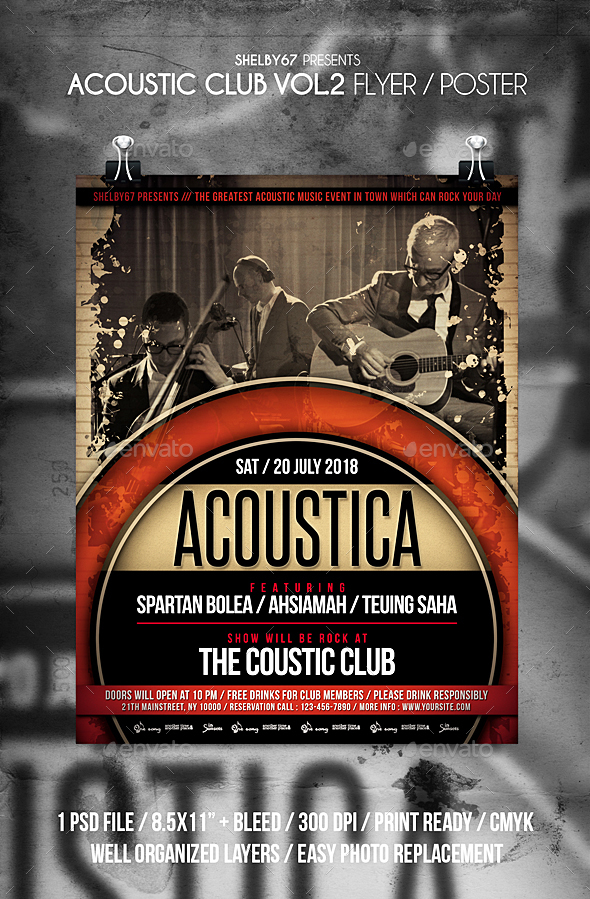 Acoustic Club Flyer / Poster Vol 2 - Events Flyers